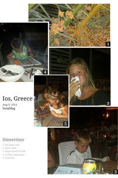 Dinnertime at ciao bella, italian restaurant in Ios, Greece