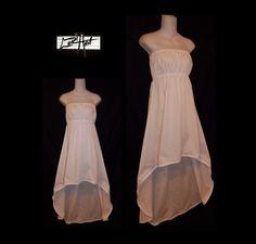 Choose Color Sleeveless High Low Empire Waist Dress by loriann37