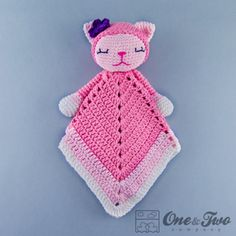 Kitty Lovey Security Blanket Crochet Pattern  ~ PATTERN FOR SALE. Link correct when I checked on 04/06/2015