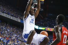 A Poythress dunk! Kentucky Wildcats Basketball: Inside Rupp Arena for the Defeat of the Cardinals - A Sea Of Blue