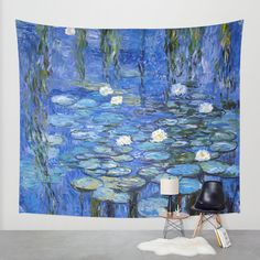 water lilies a la Monet Wall Tapestry by Jo.PinX | Society6