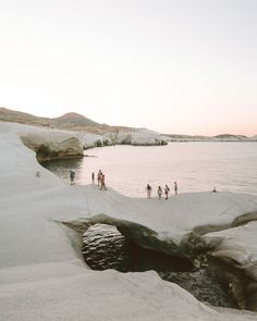 Sarakiniko beach at sunset in Milos, Greek Islands via @finduslost