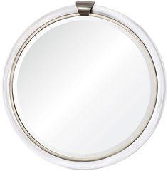 Mirror Image Home Acrylic and Nickel Round Mirror | Clayton Gray | $2000