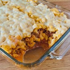 from: Real Mom Kitchen  Mac and Cheese Lasagna  2 (7.5 oz) pkgs. of Kraft Thick and Creamy Macaroni and Cheese  1 lb. ground beef  1 1/2 cups of spaghetti sauce  1/2 cup shredded mozzarella or provolone cheese