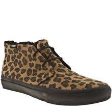 c5ade4e88e Brown   Black Vans Chukka Boot Slim Leopard Print Vans