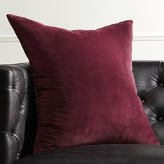 Soft and cozy in velvety cotton, plum XL square flips to natural cotton canvas. pillows include a pillow insert in your choice of feather down or down alternative. White Fur Pillow, Blush Pillows, Navy Pillows, Black And White Pillows, Yellow Pillows, Leather Pillow, Modern Throw Pillows, Velvet Pillows, Accent Pillows