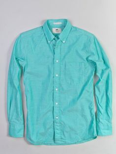 Portland Dry Goods Mint Button Down Shirt