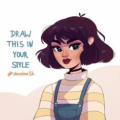 draw this in your style Hey there, its finally my own Draw This in Your Style challenge! I wanted to make it to celebrate ers, however, we are already Art Challenge, Drawing Challenge, Oc Drawings, Cute Drawings, Drawing Drawing, Drawing Ideas, Drawing Tips, Arte Indie, Art Prompts