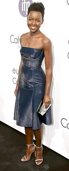 Lupita Nyong'o wears Calvin Klein to the designer's Celebrate Women in Film event at Cannes