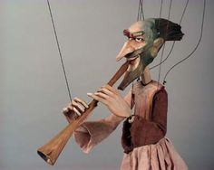 Marionette ''The Wind'' by Michaela Bartonova (Design) Antonin Muller (Carve)