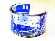 Megalopolis is my City   blue transparent acrylic by YoushiDesign