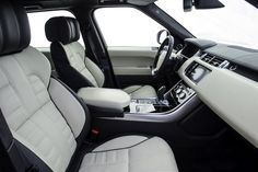 2015 Land Rover Range Rover Sport Autobiography Black and White Interior
