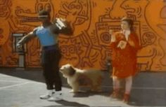 Yep, the '80s were a magical time when man, woman, and dog lived in harmony. | 41 Gifs That Perfectly Capture Why The '80s Were Totally Rad