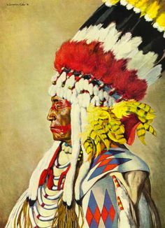Eagle Calf, Blackfoot warrior     National Geographic, 1944