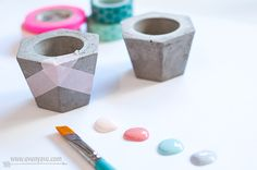 DIY concrete votives. Apply concept to lots of things!