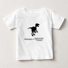velociraptor funny science baby T-Shirt - funny nerd nerdy nerds geek geeks science cool special fun