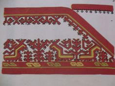 Traditional Mari (Finno-Ugric) embroidery