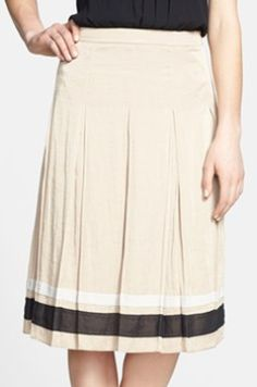 lovely ribbon trim pleated skirt  http://rstyle.me/n/ih989pdpe