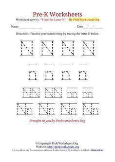 1000 images about writing worksheets for pre k class on pinterest letter n worksheets and. Black Bedroom Furniture Sets. Home Design Ideas