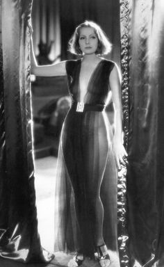 """Greta Garbo in the 1931 film """"Mata Hari.""""...who says there wasn't any nudity in the old movies?"""