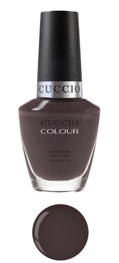 Belize in Me     Dark gray with brown undertone. Opaque.     Cuccio Colour™ Professional Nail Lacquer is formulated with Triple Pigmentation Technology for rich coverage in one coat and true coverage in two coats. For the Love of Colour™. Contains no DBP or toluene.
