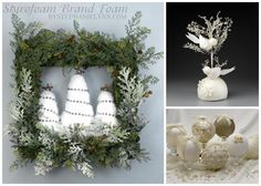 Christmas/Winter DIY crafts! LOVE the square wreath!