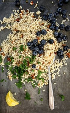 Toasted Pecan and Blueberry Couscous Salad // Joy The Baker