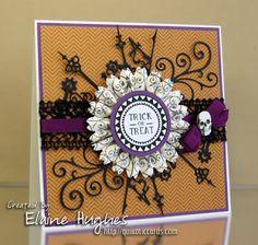 "Kraftin' Kimmie blog.  ""Halloween Trinkets"" stamp set."