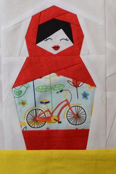 Artisania: Lil' Matryoshka - mommy. Also glad n seal wrap pattern transfer tutorial for embroidery.