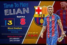 Nueva Invitación de Cumpleaños MESSI FC Barcelona PSD Layered