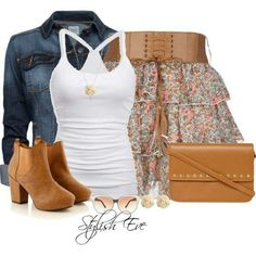 Country girl style... with REAL boots instead!