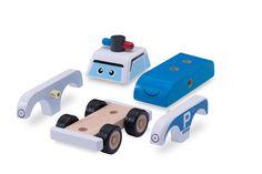 Amazon.com: Wonderworld Build A Police Car: Toys & Games