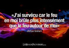 18700 «J'ai survécu car le feu en moi brûle plus intensément que le feu autour de moi» – Joshua Graham