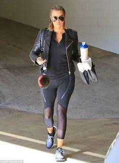 Khloe Kardashian seen leaving the gym looking hot