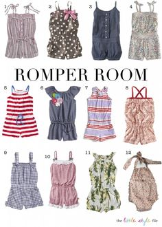 Rompers for little girls {wish I had the patterns for all of these}