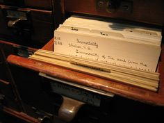 """""""Immortality,"""" by Jiffy Cat, via Flickr -- """"Immortality... Can be found in the card catalog..."""" at the Providence, Rhode Island, Athenaeum. [See the library here: https://www.pinterest.com/pin/175218241729602954/] Click through to the comments for more information about the handwritten cards in this collection."""
