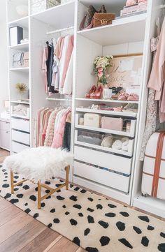 Room Design Bedroom, Room Ideas Bedroom, Closet Bedroom, Bedroom Decor, Master Closet, Glam Closet, Closet Office, Gold Bedroom, Bedroom Wall