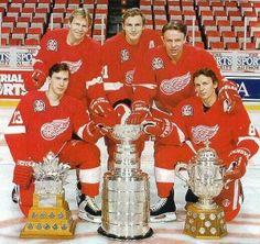 Russian Five - Detroit Red Wings- Konstantinov was my favorite Hockey Girls, Hockey Mom, Hockey Teams, Ice Hockey, Sports Teams, Boys, Bruins Hockey, Sports Betting, Detroit Red Wings