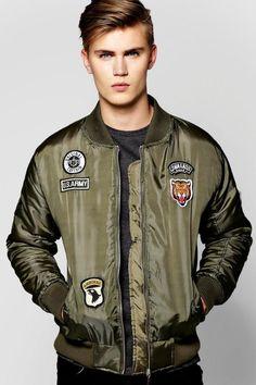 boohoo MA1 Bomber Jacket With Badges
