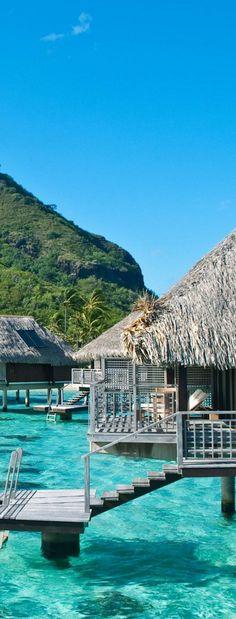 St. Regis, Bora Bora #dream #destination #travel #water #hut