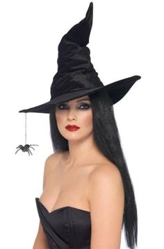Adult Witch Hat Halloween Costume Accessories Women Props Fancy Dress Cosplay #Smiffys