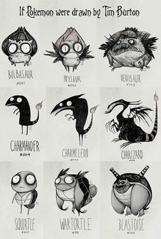 Pokemon by Tim Burton
