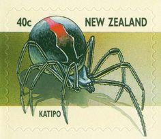 Katipō spider stamp