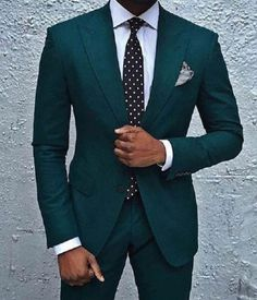 Forest green custom wedding or business suit. Forest green custom wedding or business suit. Forest green custom wedding or business suit. Wedding Men, Wedding Suits, Mens Fashion Suits, Mens Suits, Green Suit Men, Green Wedding Suit, Suit Combinations, Designer Suits For Men, Dream Wedding
