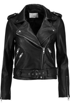 W118 BY WALTER BAKER Allison embroidered leather biker jacket