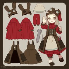 Anime clothes design best clothing ideas hair images on girl fighting desig Character Design Cartoon, Character Design References, Character Design Inspiration, Character Costumes, Character Outfits, Character Concept, Character Art, Illustration Simple, Chibi
