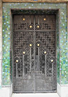 Wrought Iron Door, Casablanca, via Flickr.