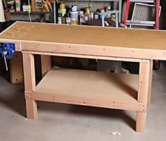 You'll only need a circular saw and a cordless drill to make this simple but rock-solid workbench, complete with a real woodworking vise.