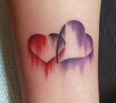 Cool, water color tattoo...