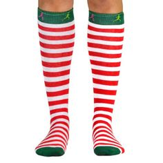 Yakety Yak! Knee Socks - Running Christmas Elf (Red & White Stripes/Green) Gone For a RUN,http://www.amazon.com/dp/B00FA41M6W/ref=cm_sw_r_pi_dp_GHbCsb1W4CM1W97B